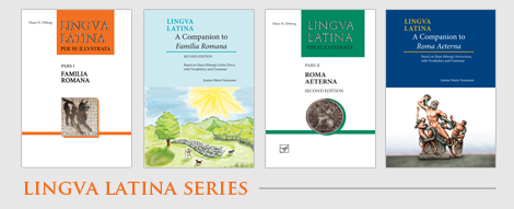 Book covers for the Lingua Latin series