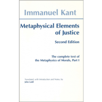 Metaphysical Elements of Justice (Second Edition)